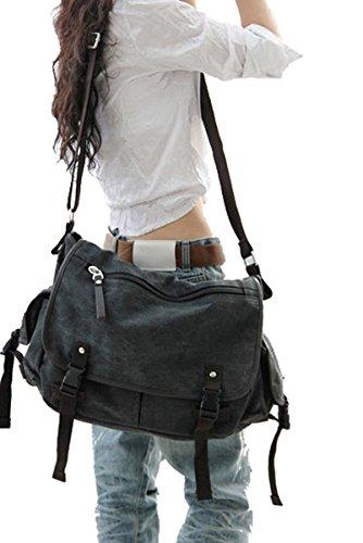 Big Vintage Canvas Messenger Bag Book Laptop Shoulder School Ladys Women Men New