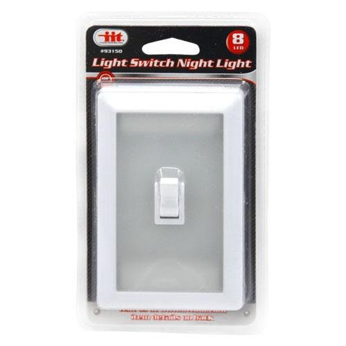 2 Light Switch Wall Nightlight 8-LED Long-Life, Mount Anywhe