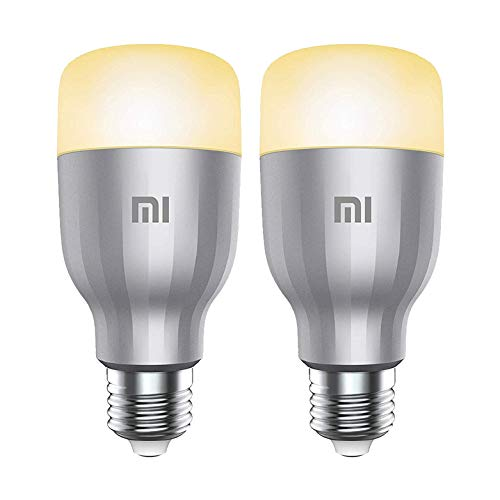 2PCS Package Global Version Xiaomi MI Smart LED Bulb Colorful 800 Lumens 10W E27 Lamp Voice Control Work With Google Assistant Alexa (Upgraded Version)