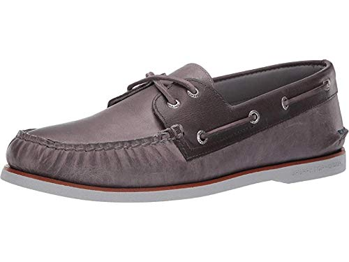 SPERRY Men's Gold Cup A/O 2-Eye Fairhaven Grey/Charcoal 10 W US