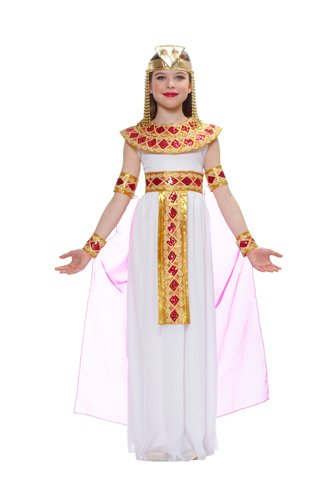 Egyptian Costume For Girls (Costume Culture Cleopatra Egyptian Queen Kids Costume, Pink)