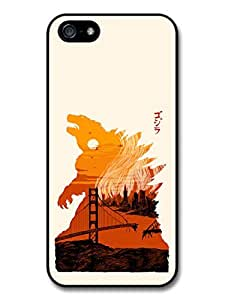 Godzilla Movie Japan Poster Orange Illustration Case For Samsung Galaxy S3 i9300 Cover
