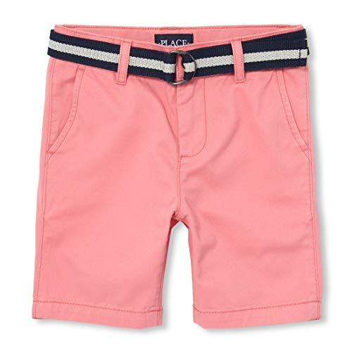 The Children's Place Boys' Big Belted Chino Shorts, Desert Dawn, 14 ()