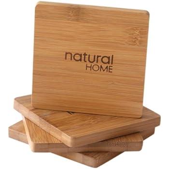 Natural Home Decor Bamboo Coaster Set Of 4 Coaster Furniture Bamboo Coasters