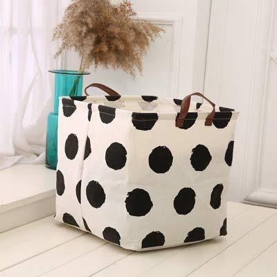 EGALIVE Canvas Storage Bag Multi-Function Folding Clothes Kid Toy Basket Home Organizer Household Sundries Storage Laundry Basket
