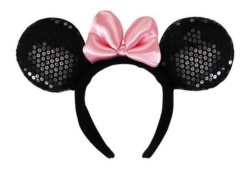 [Deluxe Minnie Mouse Ears Headband Costume Accessory] (Minnie Halloween Ears)