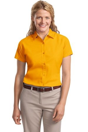 Port Authority Women's Port Authority Ladies Short Sleeve Easy Care M Yellow (Lady Image)
