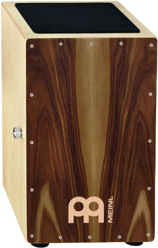"Meinl Percussion FBA_CAJ1WN-M Snare Cajon, Front Plate (VIDEO), 18"", Walnut"