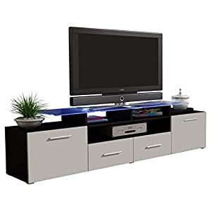 Concept muebles enea grand with top glass for Muebles tv amazon