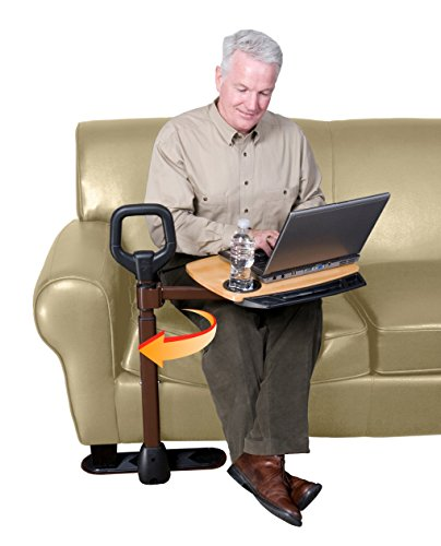 Able-Life-Able-Tray-Table-Bamboo-Swivel-TV-Laptop-Tray-Table-For-Lift-chair-or-couch-Ergonomic-Safety-Support-Mobility