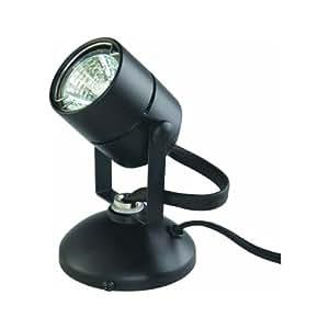Good Earth Lighting Micro Halogen Spotlight, Black