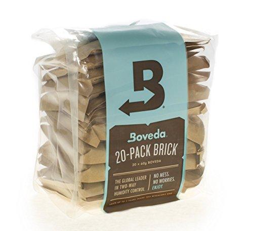 Price comparison product image Boveda 58 Percent RH 2-Way Humidity Control,  Large 67 gram size - 20-Pack Bulk Brick