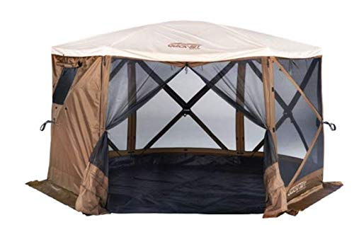 Quick Set 12874 Sky Camper Screen Shelter, Brown/Tan