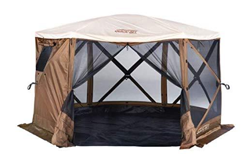 Quick Set 12874 Sky Camper Screen Shelter, Brown/Tan
