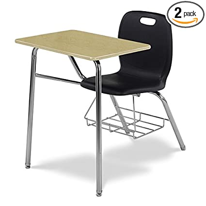 Awe Inspiring Amazon Com Virco N240Br Student Chair Desk With Bookrack Caraccident5 Cool Chair Designs And Ideas Caraccident5Info