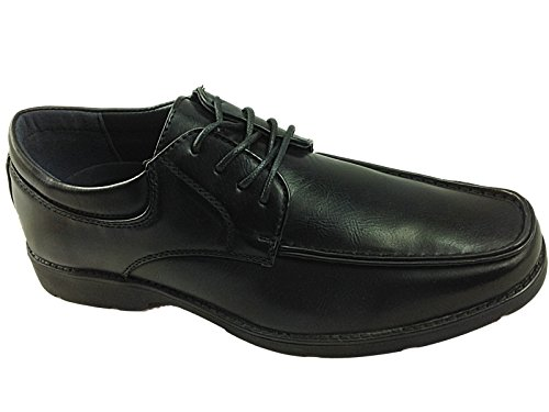 Mens Cushion Walk Leather Look Smart Loafer Moccasin Office Work Fashion Shoe Size 7-10 LSC903: Black 7RyVlwC