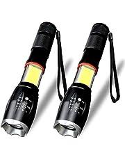 Karrong LED Taschenlampe, 6 Modi Wasserdicht Superhelle 1600 Lumen COB Arbeit Taschenlampe
