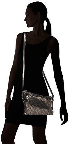 Tamaris Stefy Clutch Bag - Cartera de mano Mujer Plateado - Silber (pewter 915)