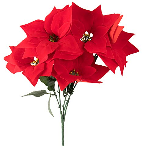 Juvale-Red-Poinsettia-Christmas-Decorations-4-Pack-Decorative-Flowers-with-Stem-Artificial-Plant-and-Christmas-Tree-Ornament-for-Home-Office-Decoration