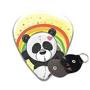 Best Picks For Bass : celluloid guitar picks 3d printed panda with rainbow best guitar bass gift musical ~ Vivirlamusica.com Haus und Dekorationen