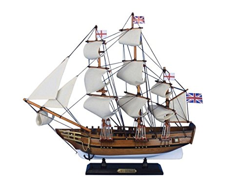 Hampton Nautical Beagle-20 Wooden Charles Darwin's HMS Beagle Tall Model Ship, 20