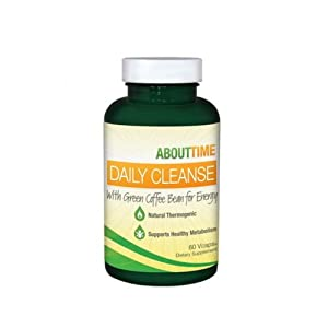 About Time Daily Cleanse Supplement with Green Coffee Bean, 60 Count by About Time