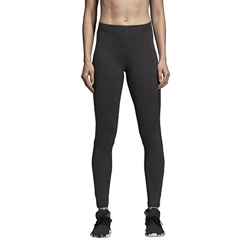 Adidas Athletics Essentials Linear Tights, Dark Grey Heatherreal Magenta, Large