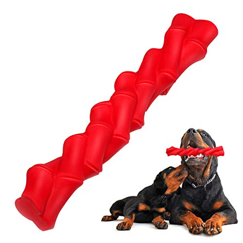 WingPet Dog Chew Toy - Tough Indestructible Dog Toys with Natural Durable Rubber, Puppy Dogs Chewers Bone & Stick Teething Toys, Great for Pets Dog Training - Exercise - Teeth Cleaning (Best Toys For Rottweiler Puppies)
