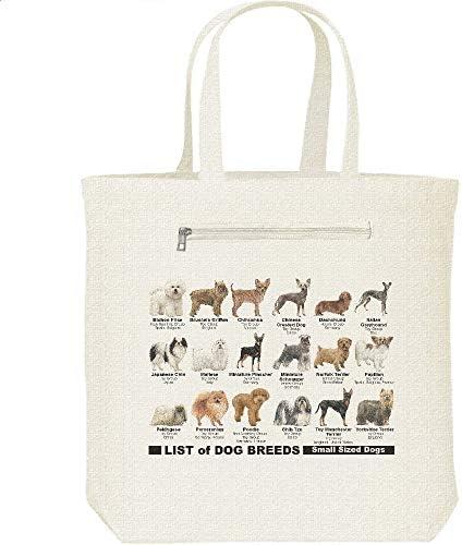 エムワイディエス(MYDS) 犬種リスト(小型~中型犬)/キャンバス トートバッグ・ファスナー ポケット付