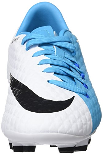 Nike Herren Hypervenom Phelon Iii Fg Fußballschuhe Elfenbein (bianco / Nero / Blu Fotografico / Blu Cloro)