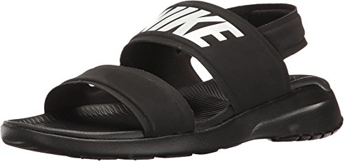 Nike Women's Tanjun Sandals, Black/White-Black 8