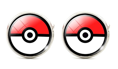 Legendary Pokemon Ball - Men's Boys Cufflinks Cuff Links - Wedding Groomsmen - 1