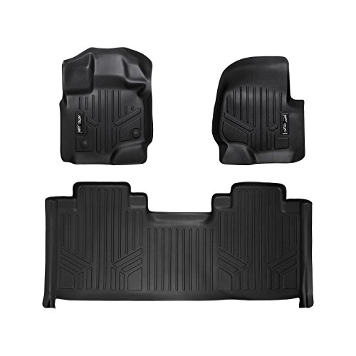 MAX LINER A0167/B0172 Custom Fit Floor Mats 2 Liner Set Black for 2015-2019 Ford F-150 SuperCab with 1st Row Bucket Seats