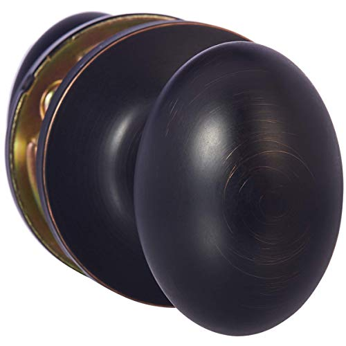 (AmazonBasics Passage Door Knob - Oval Egg - Oil Rubbed Bronze )
