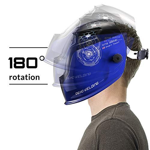 Durable Solar Powered Welding Helmet Auto Darkening Professional Hood with LED Digital Display Accurate Adjustable Shade Range 4/5-8/9-13 for Mig Tig Arc Weld Grinding Welder Mask by DEKOPRO (Image #6)