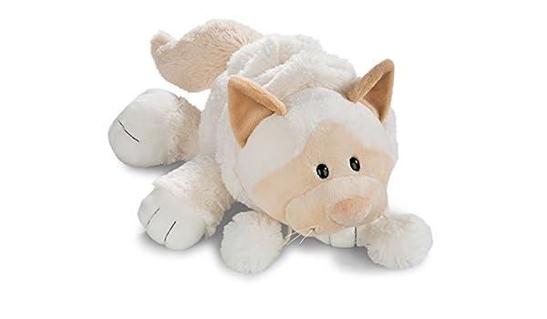 NICI- Gato de Nieve acostado de Peluche, Color Blanco, 50 cm ...
