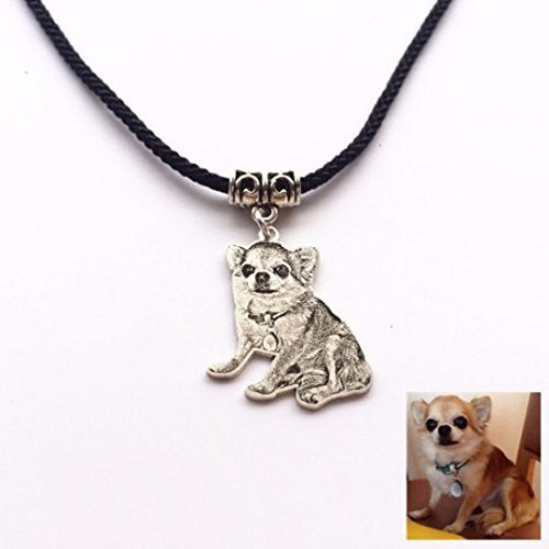 Sterling Silver Pet Photo Necklace Personalized Dog Photo Pendant Pet Loss Gift Pet Memorial for Birthday or Mothers' Day