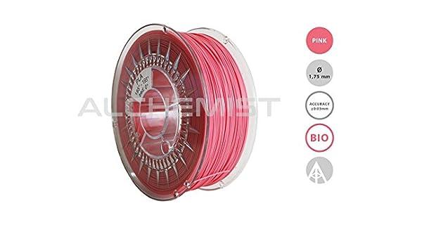 Filamento PLA Rosa para impresora 3d (1,75 mm/Tolleranza ± 0,03 MM ...