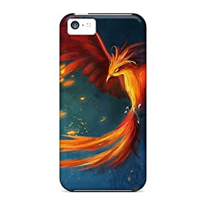 Unique Design Iphone 5c Durable Tpu Case Cover Painting Wallpaper