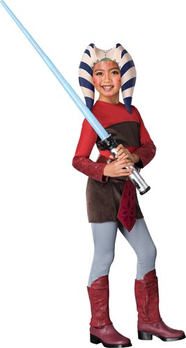Star Wars Clone Wars Child's Ahsoka Costume, Large