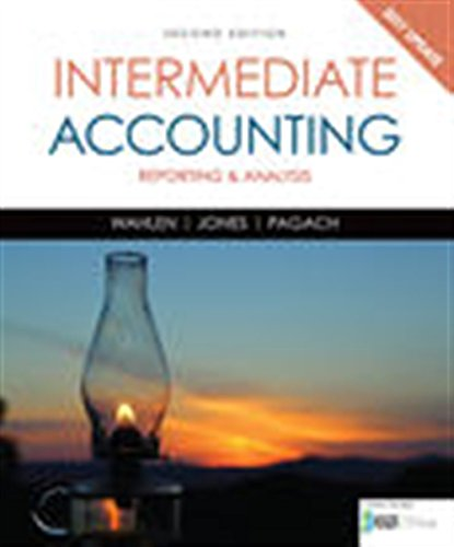 Book cover from Intermediate Accounting: Reporting and Analysis, 2017 Update by James M. Wahlen