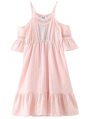 Happy Rose Flower Girls Dress Beach Cotton Pink 12
