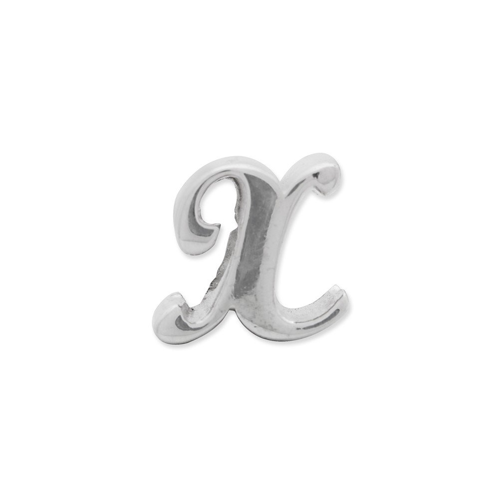 Goldia Sterling Silver Reflections Letter X Script Bead