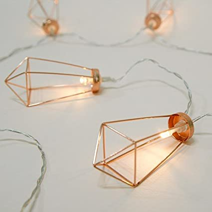 wholesale dealer b00b0 d75d8 Jefferson Gold Geometric Diamond Fairy Lights Battery Operated String  Lights LED Battery Powered String Lights For Wedding Party Indoor Patio  Festival ...