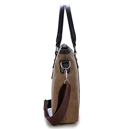 Otomoll Vintage Canvas Business Men Aktentasche Laptop Tasche Umhängetasche Messenger Bag Army green QECmVW4q