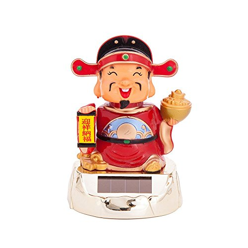 Solar Powered Bobblehead Toy Figure Nohohon, Fortune God 075