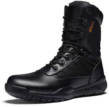 男のナイロンラバーソール黒のレースアップスタイルあきインソール滑り止めのための屋外の戦術的なブーツは戦術的な軍事用耐久性のある耐摩耗性 (色 : 黒, サイズ : 26.5 CM)