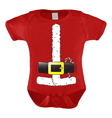 Santa Claus Costume Infant Bodysuit (Red, Newborn)
