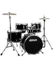 ddrum D1 Junior Complete Drum Set with Cymbals, Midnight Black