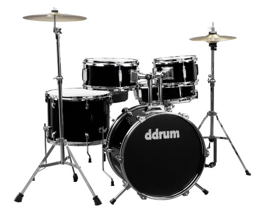 ddrum D1 JR Complete 5-piece Drum Set, Black by Ddrum